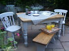 5ft Farmhouse Kitchen Dining Table Chairs Benches Painted COLOUR OPTIONS F&B