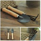 Planting tools digger farm vintage Wooden Handle Trowel & Fork Garden Set