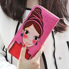 2015 Cartoon Clutch Checkbook Change Coin Bag Women Purse Ladies Handbag Wallet