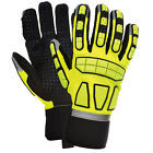 Portwest High Visibility Performance Safety Impact Work Gloves Hi Viz Yellow
