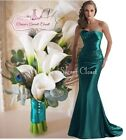 DALLAS Teal Green Beaded Embellished Bridesmaid Ballgown Dress Sizes UK 6 -16