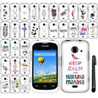 For ZTE Prelude 2 Z667G Cute Design PATTERN HARD Case Phone Cover + Pen