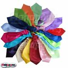 New Mens Plain Silk Wedding Scrunch Ruche Cravat Tie