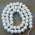 "Quality Czech Opaque  Glass Pearl Smooth Round Beads 16""4,6,8,10,12mm"