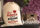 YOUR NAME WEDDING BRIDESMAID FLOWER GIRL Gift Bag 5 Sizes Available (REBECCA)
