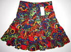 NEW Children's Place TCP Corduroy Skirt Retro Mod Boho Sz 4 Floral Pippi Tiered
