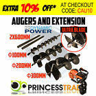 100/200/300mm Augers / 2x600mm Extensions for Post Hole Digger Drill 20mm Drive