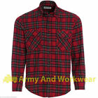 Mens Lumberjack Woven Check Flannel Work Casual Working Shirt 100% Cotton Wenaas