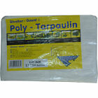 Weather-Guard Poly - Tarpaulin White 2.7m x 3.6m Lightweight 80gsm 1/2/5/10