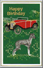 Italian Greyhound Birthday Card Embroidered by Dogmania  - FREE PERSONALISATION
