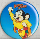 MIGHTY MOUSE Badge Button Pin - RETRO CLASSIC !  25mm and 56mm size!