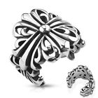 Stainless Steel Wrapping Casted Celtic Cross Wide Men's Ring Wedding Band