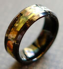 8MM Tungsten Carbide Mens Oak Camouflage Black Wedding Ring Band Size 9-13 M77