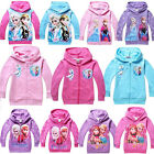 Frozen Elsa Anna Girl Top Shirt Hoodies Coat 3-8Y Kids Sweatshirt Jumper Outwear