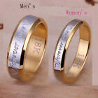 Womens Mens Forever Love 18K Gold Couple Rings Size 6-10 Mordern Recent