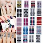 New Glittery Full Nail Wraps Nail Art Tips Manicure Sticker Decal Acrylic DIY