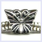 Sterling Silver Butterfly Bug Insect Bead for European Charm Bracelet