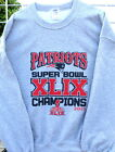 PATRIOTS,GRAY 2015 Superbowl Crew Neck SWEATSHIRT: Big sizes 2XL, 3XL, 4XLT, 5XL