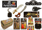 Captain JackPirate Party Game Dress Up Birthday Gold Treasure Caribbean Toy