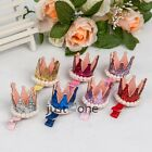 Baby Girl Crown Style Bling Imitation Pearls Hair Clip Hair Accessory 7 Colors