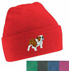 Bulldog Beanie Hat Embroidered by Dogmania