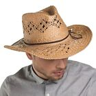 The Hat Company Kenny straw Cowboy hat 15020