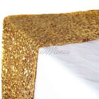 "New 12""x108"" Gold Sequin Table Runners Wedding Sparkly Bling Party Decorations"