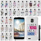 For ZTE Rapido LTE Z932L Cute Design PATTERN HARD Case Phone Cover + Pen