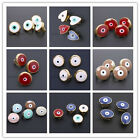 10pcs Hotsale Charms Colorful Plated Gold Enamel Alloy Evil Eye Belt Buckles - C