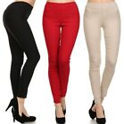 Stretch Casual PULL ON High Waisted Waist Skinny Slim Fitted Stylish Dress Pants