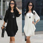 Fashion Sexy Women's Summer Short Sleeve Chiffon Mini Dress Ladies Party Dress