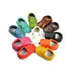 Baby Tassel Soft Sole Leather Shoes Infant Toddler Moccasin 0-24 Months Unisex