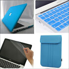 "4in1 Sky Blue Rubberized Case Cover Skin Bag for MacBook Air White PRO 11"" 13 15"