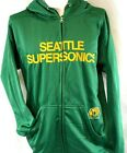 NEW Mens MAJESTIC NBA Seattle Supersonics Big & Tall Green Hooded Zip Up Jacket