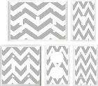 CHEVRON ZIG ZAG GRAY SAND WHITE  LIGHT SWITCH COVER PLATE  U PICK PLATE SIZE