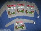 TODDLER INFANTS CHRISTMAS SANTA'S LITTLE HELPER T-SHIRT NWT 12 & 24 MTH