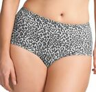 $28 NWT Elomi Asia Short Brief Panty Size XL Snow Leopard