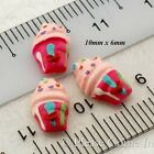 Mini Kawaii Flat Back Resin Raspberry Sundae Cabochon Charm