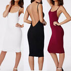 Women Casual Camisole Long Tank TOP Spaghetti Strap Basic Slip Mini Party Dress