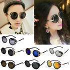 50s Vintage Retro Style Round Glasses Cyber Goggles Steampunk Sunglasses Blinder