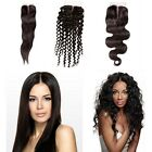 "10""-20"" Middle Parting 4""x4"" Top Lace Closure 100% Human Hair Body Wave/Curly"