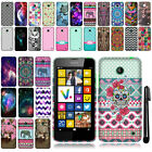 For Nokia Lumia 635 630 Cute Design TPU SILICONE Rubber Case Phone Cover + Pen