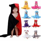 Lovely Baby Girls Boys Kids Soft Flannel Hooded Beach Bath Towel Wrap Bathrobes