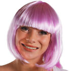 6 X LADIES PINK BOB WIGS WITH FRINGE CANDY COSPLAY FANCY DRESS FASHION BABE HAIR