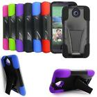 Phone Case for Cricket HTC Desire 512 Prepaid Smartphone Rugged Cover Kickstand