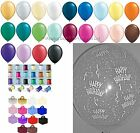 Any Age/Colour 15 Table Kit Helium Balloons Ribbons Weights Birthday Decorations