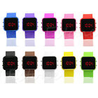 New Classical Lady Men Mirror Face LED Date Sport Rubber Digital Wrist Watch Hot