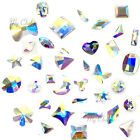 "Swarovski Flatbacks No-Hotfix Rhinestones CRYSTAL AB (001 AB) ""Pick Your Shape"""