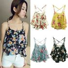 Sexy Women Summer Casual Sleeveless Shirt Chiffon Loose Vest Tank Top Blouse #A