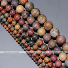 1 Strand Natural Round Ball Picasso Jasper Gemstone Charm Beads 4/6/8/10/12/14mm